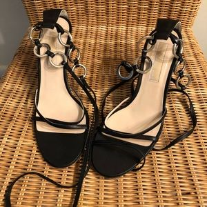 Michael Kors lace up small heeled sandals